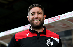 Bristol City head coach Lee Johnson smiles ahead of the EFL Cup fixture with Scunthorpe United - Mandatory by-line: Robbie Stephenson/JMP - 23/08/2016 - FOOTBALL - Glanford Park - Scunthorpe, England - Scunthorpe United v Bristol City - EFL Cup second round