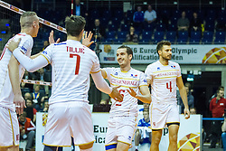 06.01.2016, Max Schmeling Halle, Berlin, GER, CEV Olympia Qualifikation, Frankreich vs Russland, im Bild Benjamin Toniutti (#6, Frankreich) und Antonin Rouzier (#4, Frankreich) // 2016 CEV Volleyball European Olympic Qualification Match between France and Russia at the Max Schmeling Halle in Berlin, Germany on 2016/01/06. EXPA Pictures © 2016, PhotoCredit: EXPA/ Eibner-Pressefoto/ Wuechner<br /> <br /> *****ATTENTION - OUT of GER*****