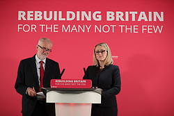 © Licensed to London News Pictures . 02/09/2019. Manchester, UK. Jeremy Corbyn makes a speech and hosts a Q&A at The Landing Media City ahead of the meeting. The Labour Party hold a shadow cabinet meeting in Salford , attended by party leader Jeremy Corbyn and Rebecca Long-Bailey . Photo credit: Joel Goodman/LNP