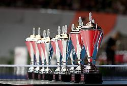 27.02.2011, Westfalenhalle Dortmund, GER, Tischtennis, German Open, im Bild Siegerpokale, EXPA Pictures © 2011, PhotoCredit: EXPA/ A. Neis