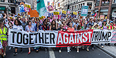 13 Jul 2018 - Thousands march through London in Anti-Trump demonstrations.