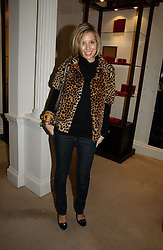 ALEXANDRA FINLAY at a party to celebrate the 10th anniversary of the Smythson Fashion Diary and to the launch of the 2007 Limited Edition held at Smythson, New Bond Street, London on 25th October 2006.<br />