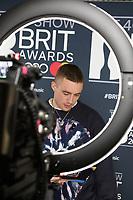 Dermot Kennedy attends the BRIT Awards 2020 - The BRITs Are Coming, The Riverside Studios, London, UK, Sunday 08 December 2019<br /> Photo JM Enternational
