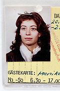 student ID style head shot photo of a young adult woman 1980s