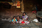 Transit Camp 138A and 138B in Mankhurd is home to 2.500 families waiting for an apartment under the Slum Rehabilitation Authority. Families wait for up to 10 years, after their previous home in a slum area was demolished. The housing in the transit camp is very simple, a single room with dirt or tile floor, no water or sanitation. The Chavan family have lived in the camp in five years.
