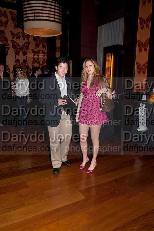 ALEXANDER MASRI; NATALIE HYAM, Drinks soiree and silent auction of &Ocirc;100 Things&Otilde;,  hosted by the Mayor of London Boris Johnson, in aid of the Legacy List. 50 St. James. London. 2 November 2011. <br /> <br />  , -DO NOT ARCHIVE-&copy; Copyright Photograph by Dafydd Jones. 248 Clapham Rd. London SW9 0PZ. Tel 0207 820 0771. www.dafjones.com.<br /> ALEXANDER MASRI; NATALIE HYAM, Drinks soiree and silent auction of &lsquo;100 Things&rsquo;,  hosted by the Mayor of London Boris Johnson, in aid of the Legacy List. 50 St. James. London. 2 November 2011. <br /> <br />  , -DO NOT ARCHIVE-&copy; Copyright Photograph by Dafydd Jones. 248 Clapham Rd. London SW9 0PZ. Tel 0207 820 0771. www.dafjones.com.