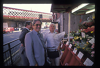 """Ronald """"Buster"""" Edwards (in white shirt), took part in the Great Train Robbery and after 9 years in jail sold flowers under Waterloo station. He was found hanged in 1994 aged 62."""