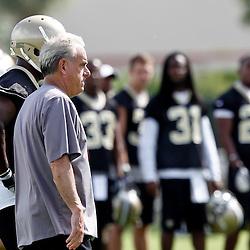 May 31, 2012; Metairie, LA, USA; New Orleans Saints associate head coach Joe Vitt during organized team activities at the team's practice facility. Mandatory Credit: Derick E. Hingle-US PRESSWIRE