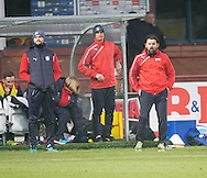 Dundee manager Paul Hartley watches from the bench - Dundee v St Mirren in the William Hill Scottish Cup at Dens Park, Dundee. Photo: David Young<br /> <br />  - &copy; David Young - www.davidyoungphoto.co.uk - email: davidyoungphoto@gmail.com