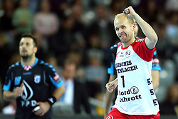 21.11.2015, Arena Zagreb, Zagreb, CRO, EHF CL, RK PPD Zagreb vs SG Flensburg Handewitt, Gruppe A, im Bild Anders Eggert Magnussen. // during the EHF Champions League, group A match between RK PPD Zagreb and SG Flensburg Handewitt at the Arena Zagreb in Zagreb, Croatia on 2015/11/21. EXPA Pictures © 2015, PhotoCredit: EXPA/ Pixsell/ Goran Stanzl<br /> <br /> *****ATTENTION - for AUT, SLO, SUI, SWE, ITA, FRA only*****