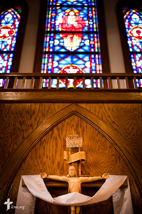 The altar of St. John's Lutheran Church, Conover, N.C, on Friday, April 21, 2017. LCMS Communications/Erik M. Lunsford
