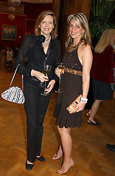 Left to right, the COUNTESS OF WOOLTON and BEATRICE WARRENDER at '4 Inches' a project 'For Women about Women By Women' - A photographic Auction in aid of the Elton John Aids Foundation hosted by Tamara Mellon President of Jimmy Choo and Arnaud Bamberger MD of Cartier UK at Christie's, 8 King Street, London W1 on 25th May 2005.<br /><br />NON EXCLUSIVE - WORLD RIGHTS