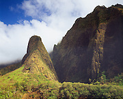 0861-1001B ~ Copyright: George H. H. Huey ~ The Needle, rises 1200 feet above lao Valley. loa Valley State Park, Maui, Hawaii.