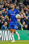 Chelsea defender Emerson Palmieri (33) during the EFL Cup 4th round match between Chelsea and Derby County at Stamford Bridge, London, England on 31 October 2018.