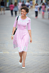 © Licensed to London News Pictures.  14/06/2014. WITNEY, UK. Actress Gugu Mbatha-Raw pictured in her home town of Witney in Oxfordshire ahead of a special screening of the film Belle where she plays the lead role. Photo credit: Cliff Hide/LNP