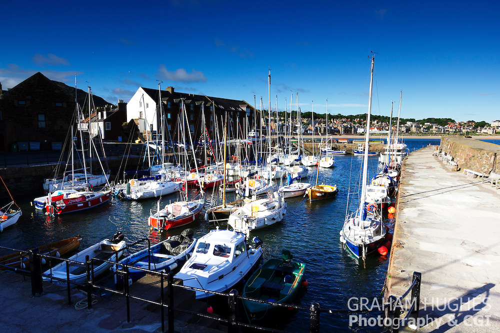 North Berwick, Scotland. Harbour boats.