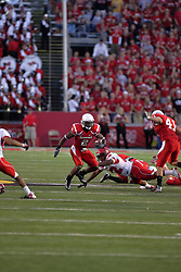 19 September 2009: E.J. Jones breaks the line of scrimmage and continues into the secondary in a game which the Austin Peay Governors were defeated 38-7 by the Illinois State Redbirds at Hancock Stadium on campus of Illinois State University in Normal Illinois