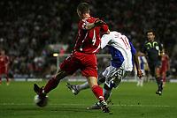 Photo: Paul Thomas.<br /> Blackburn Rovers v SV Red Bell. UEFA Cup. 28/09/2006.<br /> <br /> Benni McCarthy (10) scores for Blackburn.