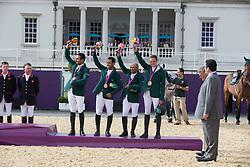 Team Saudi Arabia: <br /> HRH Prince Al Saud Bin Abdullah (KSA) <br /> Bahamdan Kamal (KSA)<br /> Al Duhami Ramzy (KSA)<br /> Sharbatly Abdullah Waleed (KSA)<br /> Olympic Games London 2012<br /> © Dirk Caremans