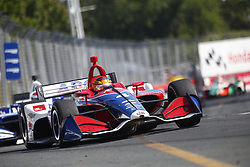 July 15, 2018 - Toronto, Ontario, Canada - MATHEUS LEIST (4) of Brazil battles for position during the Honda Indy Toronto at Streets of Toronto in Toronto, Ontario. (Credit Image: © Justin R. Noe Asp Inc/ASP via ZUMA Wire)