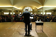 Presidential Candidate Ralph Nader visits Town Hall in Downtown Seattle. (Photo by Kevin Casey/Getty Images)