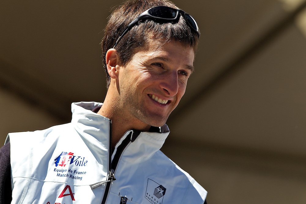 Mathieu Richard, French Match Racing Team. St Moritz Match Race 2010. World Match Racing Tour. St Moritz, Switzerland. 1st September 2010. Photo: Ian Roman/Subzero Images