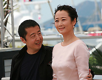 Director Jia Zhang-Ke, and actress Zhao Tao at the Mountains May Depart film photo call at the 68th Cannes Film Festival Tuesday May 20th 2015, Cannes, France.