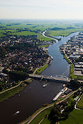 Nederland, Overijssel, Gemeente Hasselt , 03-10-2010; brug bij Hasselt over het  Zwarte Water..luchtfoto (toeslag), aerial photo (additional fee required).foto/photo Siebe Swart