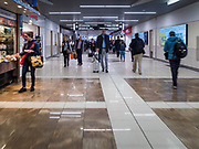 17 FEBRUARY 2020 - ATLANTA, GEORGIA:   Concourse B in Atlanta's Hartsfield–Jackson Atlanta International Airport, the world's busiest airport by passenger count.  PHOTO BY JACK KURTZ