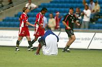 Fotball, 21. juli 2003, Vålerenga-Brann 0-2. Pa-Modou Kah, Vålerenga, depper