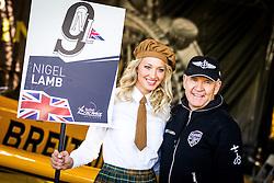 26.10.2014, Red Bull Ring, Spielberg, AUT, Red Bull Air Race, Renntag, im Bild Nigel Lamp, (GBR) mit Grid Girl // during the Red Bull Air Race Championships 2014 at the Red Bull Ring in Spielberg, Austria, 2014/10/26, EXPA Pictures © 2014, PhotoCredit: EXPA/ M.Kuhnke