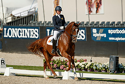 De Vries Mara, NED, Habibi DVB<br /> World ChampionshipsYoung Dressage Horses<br /> Ermelo 2018<br /> © Hippo Foto - Dirk Caremans<br /> 03/08/2018