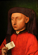 Marco Barbarigo circa 1449-50.  Follower of Jan van Eyck 1395-1441).  Marco Barbarigo was the Venetian consul in London, responsible for protecting the interests of Venetian merchants.  He later went on to become the doge of Venice.  This portrait is painted in the precise and detailed Netherlandish style.  Expensive and fashionable, it would have indicated the culture and status of its owners.