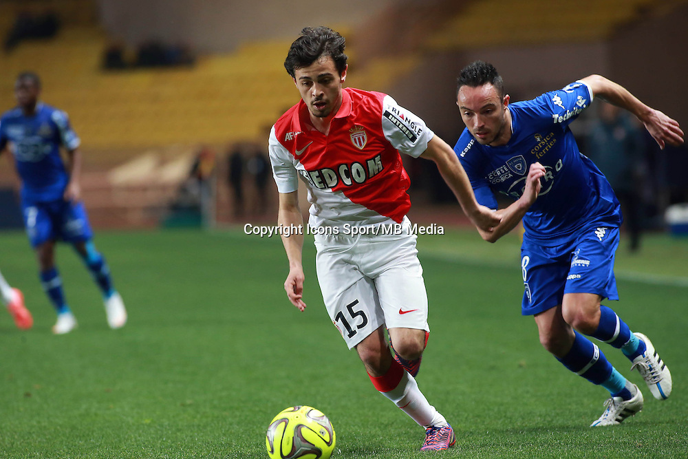 SILVA BERNARDO / DANIC GAEL  - 13.03.2015 -   Monaco / Bastia -  29eme journee de Ligue 1 <br /> Photo : Serge Haouzi / Icon Sport