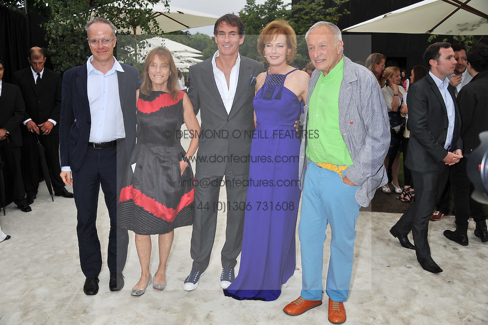 Left to right, HANS ULRICH OBRIST, LADY ROGERS, TIM JEFFERIES, JULIA PEYTON-JONES and LORD ROGERS at the annual Serpentine Gallery Summer Party sponsored by Burberry held at the Serpentine Gallery, Kensington Gardens, London on 28th June 2011.