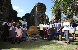 Prince Harry attends a conversation projects exhibition, where he unveiled a plaque designating the Castries Water Works Reserve and surrounding rainforest as St Lucia's contribution to The Queen's Commonwealth Canopy Project, on the island of St Lucia during the second leg of his Caribbean tour.