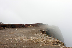 Mist along the edge of a cliff, Anacapa Island, Channel Islands National Park, California, United States of America