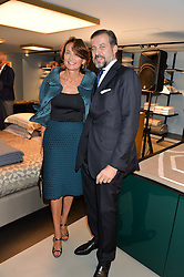 HERVE & EMMANUELLE MARTIN at the launch of the new Frette store at 43 South Audley Street, London on 6th October 2016.