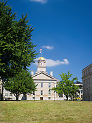 "The ""Old Capitol"" building, Iowa's former territorial capitol, shines in the sun on an August day. University of Iowa, Iowa CIty, Iowa."