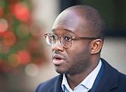 Sam Gyimah MP<br /> Departs the BBC <br /> Broadcasting House, London, Great Britain <br /> 16th December 2018 <br /> <br /> Sam Gyimah MP<br /> Departs the BBC <br /> <br /> <br /> Photograph by Elliott Franks