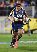 Waisake Naholo during the Super Rugby Final between the Hurricanes and Highlanders at Westpac Stadium in Wellington., New Zealand. Saturday 4 July 2015. Copyright Photo: Andrew Cornaga / www.Photosport.nz