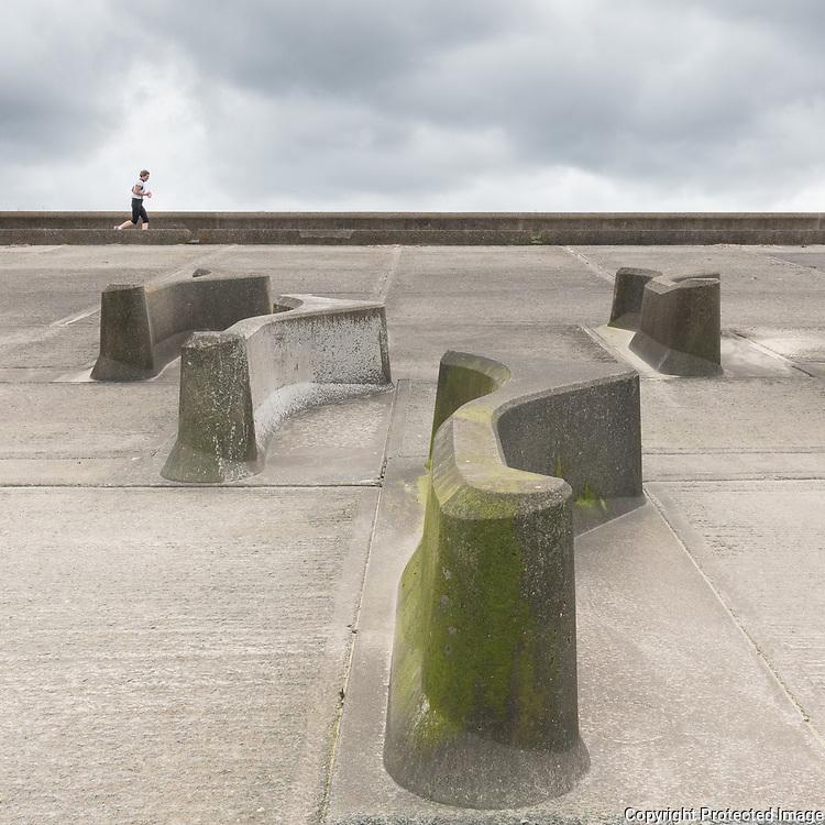 Concrete runner, Wallasey Embankment, Merseyside.