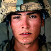 Aug 13, 2009 - Kandahar Province, Afghanistan - Canadian Combat Engineer Cpl  Vincent B. St-Jacques age 21, seen after a Patrol in extreme heat in the volatile Panjway District located west of Kandahar City, Afghanistan. This is Canada's first combat deployment since the Korean War. Canada has suffered one of the highest casualty rates of the war in Afghanistan and has announced that it will be pulling out all Canadian combat troops by 2011. <br /> The Canadian Press Images/Louie Palu<br /> CANADIAN SALES AND USE ONLY. NO INTERNATIONAL SALES OR USE.