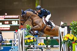 Van Deynze Axl, BEL, Joly's Condor<br /> Nationaal Indoor Kampioenschap Pony's LRV <br /> Oud Heverlee 2019<br /> © Hippo Foto - Dirk Caremans<br /> 09/03/2019