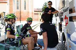 Keeping out of the searing sunshine at Giro Rosa 2016 - Stage 3. A 120 km road race from Montagnana to Lendinara, Italy on July 4th 2016.