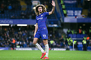 Chelsea Ethian Ampadu applauds the fans during the The FA Cup fourth round match between Chelsea and Sheffield Wednesday at Stamford Bridge, London, England on 27 January 2019.