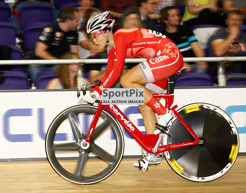 UCI Track Cycling World Cup Glasgow 4th - 6th November 2016. Juan Zhao MENG (HKG), in the qualifying session for Women's sprint .....(c) STEPHEN LAWSON | SportPix.org.uk