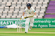 Joe Weatherley of Hampshire batting during the second day of play in the Specsavers County Champ Div 1 match between Hampshire County Cricket Club and Essex County Cricket Club at the Ageas Bowl, Southampton, United Kingdom on 28 April 2018. Picture by Graham Hunt.