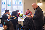DENVER, CO - MAY 10: Mothers Day dinner at the Holy Trinity Center at the St. John Paul II Center for the New Evangelization on May 10, 2015, in Denver, Colorado. (Photo by Daniel Petty/for Catholic Charities)