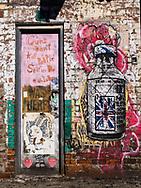 Graffiti at Ganzevoort Street in new York City.